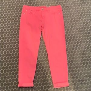 NWT HOT pink Skinny Ankle Jean. Size 30/10